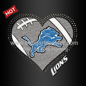 on sale 4bcb7 fd842 Rhinestone Heat Transfer Detroit Lions Iron ons for Football ...