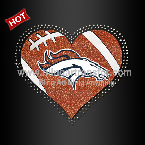 photograph regarding Denver Broncos Printable Schedule titled Denver Broncos Warmth Printable Glitter Vinyl Transfers