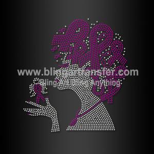 4bab6a351e61 Wholesale Pink Ribbon Breast Cancer Rhinestone Transfer Motif