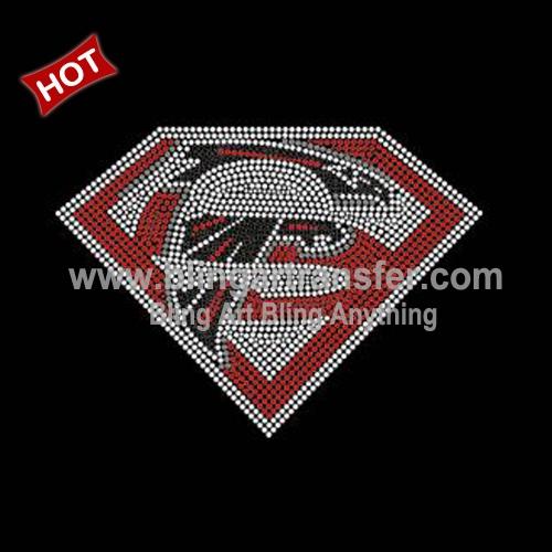 4445afd3 Custom Rhinestone Transfer Super Falcons for School Uniform ...