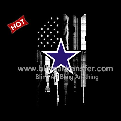 df91cfe90 Hot Sale iron-on heat transfer Dallas Cowboys Rhinestone for Shirt ...