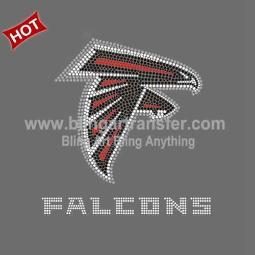 1bdd50ed Beautiful Rhinestone Applique Atlanta Falcons Iron On T-shirt ...