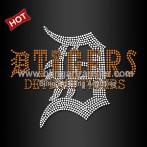 e702b2927460 Hot Sale Rhinestone Design Detroit Tigers Hotfix Motif