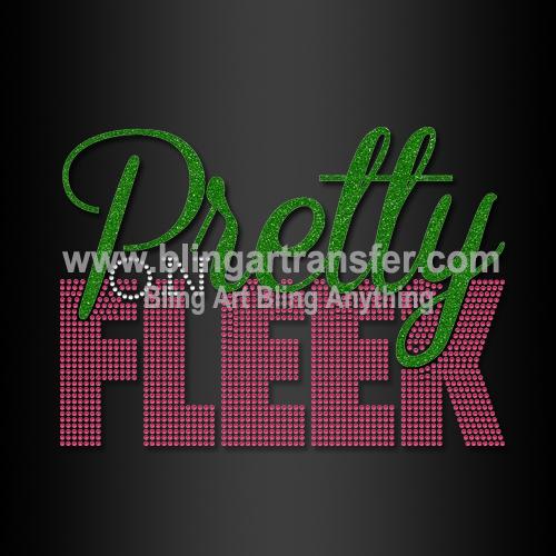 9f3cad278814 ... Rhinestone AKA Heat Transfer Stickers Pretty on Fleek Wholesale for T  Shirts. BRT-gk0130 8×5.7 4.59
