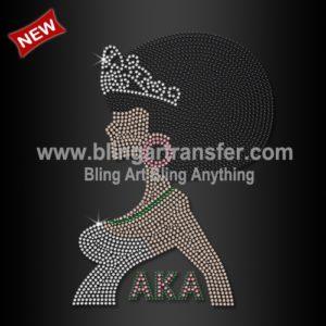 6df3bf32a9db Woman Sorority Transfers Flip Flops with AKA Rhinestone Motif ...