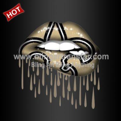 Custom Heat Printing Vinyl New Orleans Saints With Lips