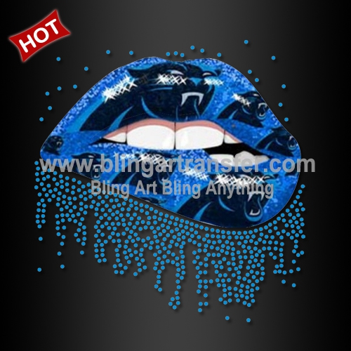 23104112c ... Carolina Panthers Lip Printed Vinyl Iron on Transfers. BRT-st0093